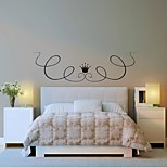 AYA™ DIY Wall Stickers Wall Decals, Flower Rattan & Crown Type PVC Panel Wall Stickers 35*123cm