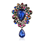 Women's Fashion Rhinestone Luxury Waterdrop Shaped Crystal Wedding/Party Gifts Brooches