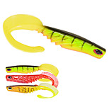 6pcs/lot Afishlure 7.8g 120mm Curly Tail Soft Worm Soft Baits Fish Red/Yellow/Green Fishing Lure