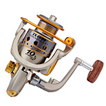 Metal & Plastic  Fishing Spinning Reels 10 Ball Bearings  Exchangable Handle-JX4000