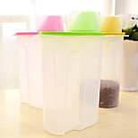 1.5L Small Size Grains Storage Tank Antibacterial and Easy Dumping Food Storage Tank with Lid (Random Color)