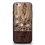 Capa traseira Estampa Flor TPU Macio Printing, Woodcut Case Capa Para Apple iPhone 6s Plus/6 Plus / iPhone 6s/6