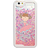 Flowing Quicksand Liquid/Pattern Cartoon Ballet Girl PC Hard Case For Apple iPhone 6s 6 Plus SE/5s/5