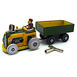 The Tractor Wind-up Toy Leisure Hobby  Metal Yellow For Kids