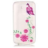 Per retro Trasparente / Other Fiore decorativo TPU Morbido Copertura di caso per Samsung Galaxy LG K10 / LG K8 / LG K7