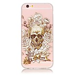 TPU material The New Skull Rose Pattern Luminous Phone Case for  iPhone 6s Plus / 6 Plus/6S/6/SE / 5s / 5