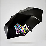 Magic Water Color Zebra Folding Umbrella Sun Umbrella Sunny Blossom Water Umbrella Stall Printing