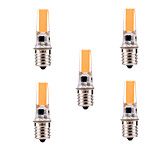 5W E17 Luces de Rail T 1 COB 400-500 lm Blanco Cálido / Blanco Fresco Regulable / Decorativa AC 110-130 V 5 piezas