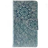 Ganzkörper Brieftasche / Kartenhalter / Stoßfest / Staubdicht / mit Ständer Mandala PU - Leder Weich Wallet/With Stand Fall-Abdeckung für