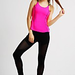MIDUO Sports Women's Breathable Yoga Tops Fuchsia-YAS 001