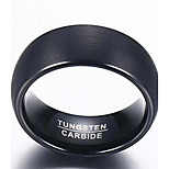Ring Fashion Daily / Casual Jewelry Tungsten Steel Men Band Rings 1pc,7 / 8 / 9 / 10 / 11 / 12 Black