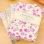 Korean-Style Portable Multi-Color Small Floral Sticky Combination Hard Box N Times Stickers (Random Color)