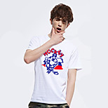 Running Tops Men's Short Sleeve Breathable Polyester Fitness Leisure Sports Badminton Cycling Bike Running Sports Wear