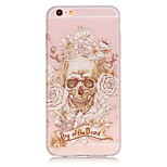 Luminous Skull Rose Pattern TPU Phone Case For iPhone SE/5s/5/6/6S/6s Plus/6 Plus