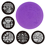 Nail Art Stamping Plate Stamper Scraper 7cm