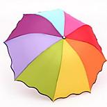 Rainbow Umbrella Folding Umbrella Uv Sun Shade Umbrella Advertising Umbrella Folded Umbrella Solid