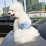 Dog Pants Blue Dog Clothes Summer / Spring/Fall Solid Casual/Daily