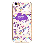 Purple Unicorn Pattern  Transparent TPU Material Phone Case for iPhone 6 6S  6 Plus 6S Plus