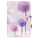 PU Leather Material Dandelion Embossed  Pattern Tablet Sleeve for iPad mini 4