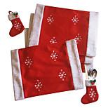 New Christmas Table Christmas Snowflake Christmas Sock Knife And Fork Tableware Sets Home Mat