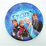 Frozen Cake Dish Plate Party Supplies Children'S Birthday Party Gathering Round Paper Plate 10 / Pack