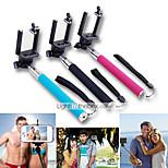 2in1 extensible monopode portable selfie bâton et déclencheur à distance Bluetooth pour iPhone / iPad et d'autres (couleurs assorties)