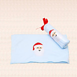 1pc Santa Claus Embroidery Blue Christmas Towel Microfiber Bath Shower Pary Supplies