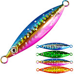 4pcs/lot Afishlure 100g 118mm Sea Fishing Metal Plate Lead Jig Sinking Lure Boat Fishing Bait Casting