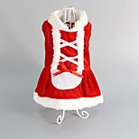 Classic Red Christmas Style Pet Dress