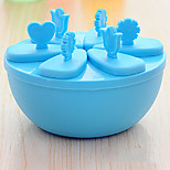 Set Of 8 Frozen Clear Plastic Ice Cream Tool Mould Popsicle Maker Fish Kitchen Mold DIY Round(Random Colours)