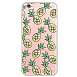 Fruit Pinapple Pattern TPU Ultra-thin Translucent Soft Back Cover for Apple iPhone 6s 6 Plus SE/5s/5