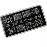 Nail Art Stamping Plate Stamper Scraper 12*6cm