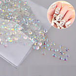 1000pcs Nail Decorative Jewelry Diamond Transparent AB White Diamond 4mm