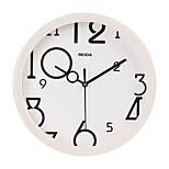 (Color al azar) 8 pulgadas habitación de los niños del reloj linda pared de la historieta muda del reloj circular del reloj de cuarzo