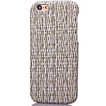 KARZEA™Cane Stripes Pattern PC and PU Leather Back Case with 3D Stereoscopic for iPhone6 6S/6S Plus