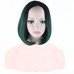 Ombre Synthetic Wigs Cheap Black-Green Wigs Synthetic Sexy Female Short Haircut Wigs Nice Natural Looking Women Wigs