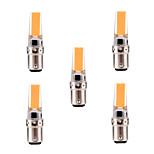 5W BA15D LED à Double Broches T 1 COB 400-500 lm Blanc Chaud / Blanc Froid Gradable / Décorative AC 100-240 / AC 110-130 V 5 pièces