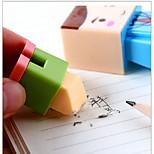 Korean Cute Cartoon Villain Diy Creative Stationery Pencil Sharpener Assembly Double Eraser.