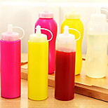 Food Grade Leakproof Squeeze Ketchup Salad Sauce Bottle with Lid (Random Color)