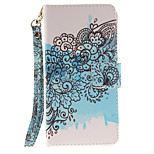Painted Butterfly Flower Pattern Card Can Lanyard PU Phone Case For Sony Z2 Z3 Z3mini M4