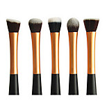 5 Makeup Brushes Set Synthetic Hair Portable Metal Face Others