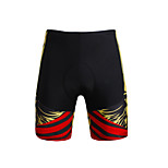 Breathable New Men 's Cycling Shorts Bike TROUSERS With 3 d Pad Lycra DX660 Yellow Skeleton