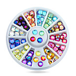 New Nail Art Multicolor 3d Glitter AB Rhinestone Wheel DIY Strass Beads Design Nail Beauty Decorations