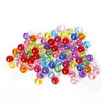 beadia perlas de colores surtidos de acrílico de 8 mm de perlas sueltas suave plástico redondo del espaciador (50g / aprox 160pcs)