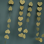 Gold Silver Red Glitter Heart-Shaped Paper String Garland Brace Charm Christmas Ornaments Decorated Wedding Supplies