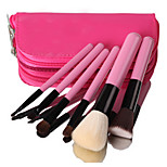 6 Makeup Brushes Set Goat Hair Portable Wood Face Others