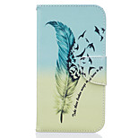 Feathers Pattern PU Leather Full Body Leather Case with Card Slots for Motorola Moto G4 Plus/G4