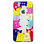 Pour Coque iPhone 6 / Coques iPhone 6 Plus Motif Coque Coque Arrière Coque Chat Flexible TPU Apple iPhone 6s Plus/6 Plus / iPhone 6s/6