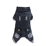 Dog Denim Jacket/Jeans Jacket Black Winter / Spring/Fall Solid Fashion, Dog Clothes / Dog Clothing-Lovoyager