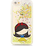 Snow White Back Flowing Quicksand Liquid/Printing Pattern PC Hard Shell For iPhone 6s Plus/6 Plus/6s/6/SE/5s/5